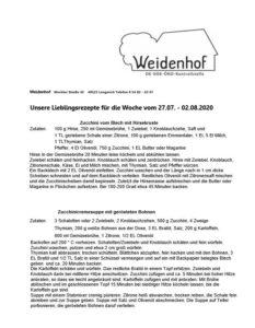 Rezepte Weidenhof