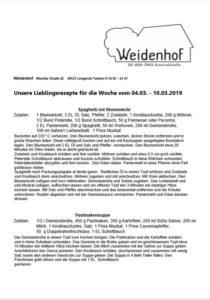Weidenhof-Rezepte